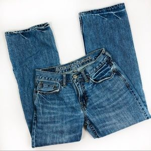 American Eagle distressed boot cut jeans sz 29/30